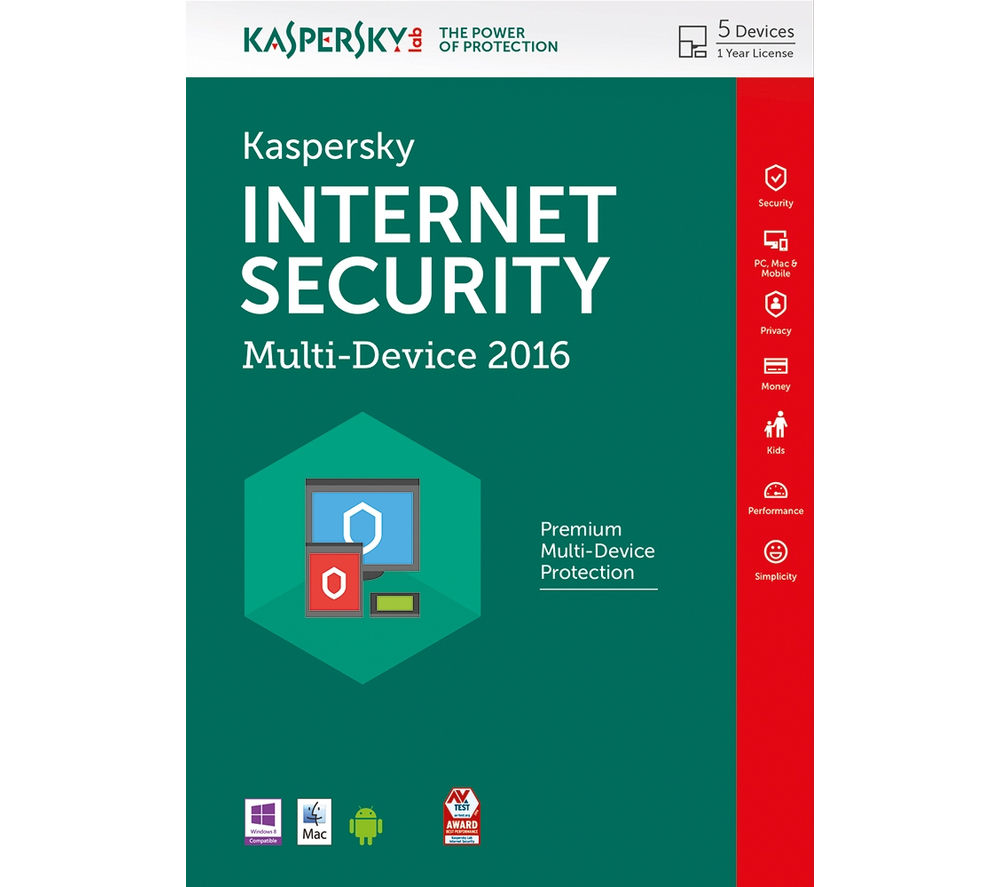 KASPERSKY 2016 INTERNET SECURITY