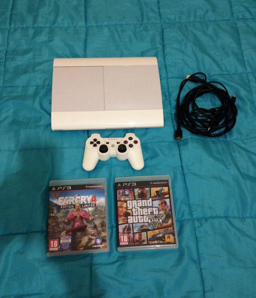 PS3 ULTRA SLIM 500go blanche