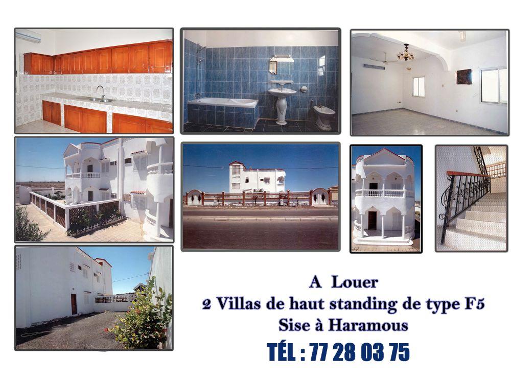 2 Villas Duplex de haut standing type F5 Haramous