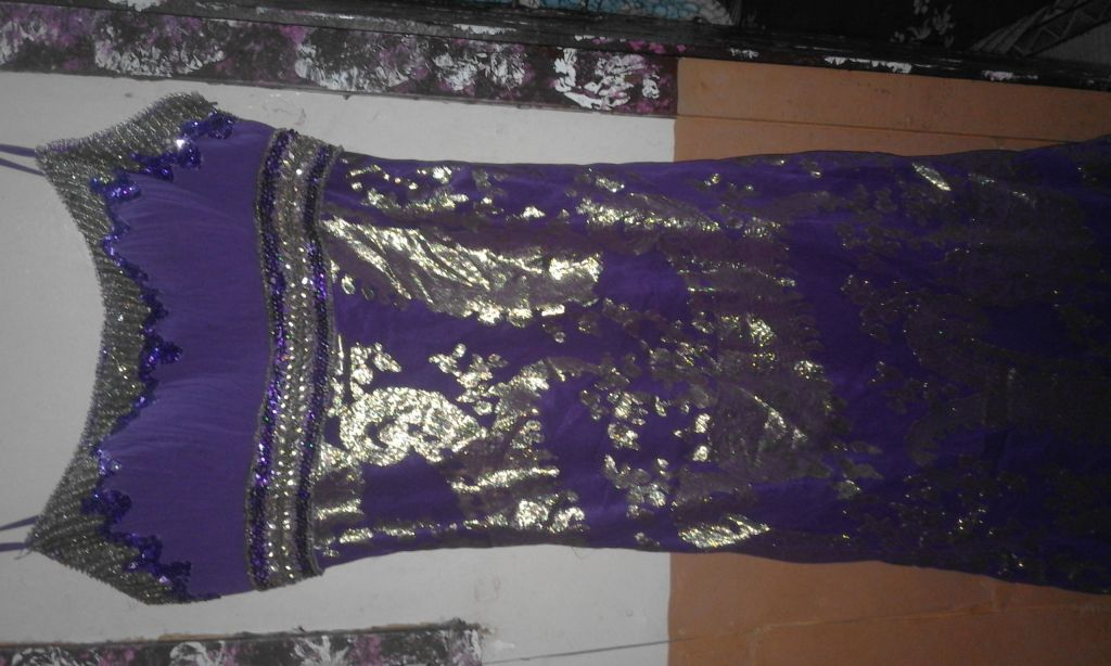 Robe violet soirée