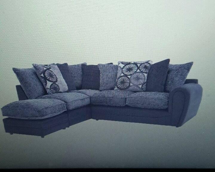 Black /silver Sofa