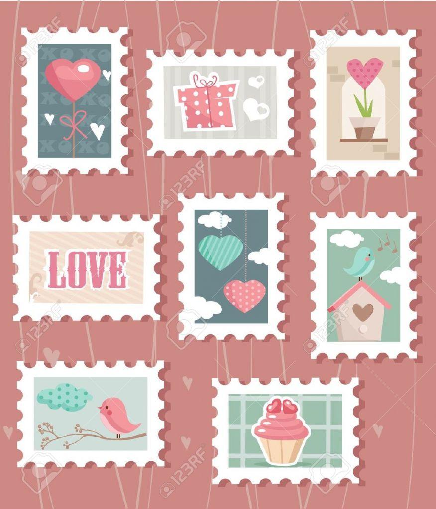 Ensemble de timbres postales mondiale