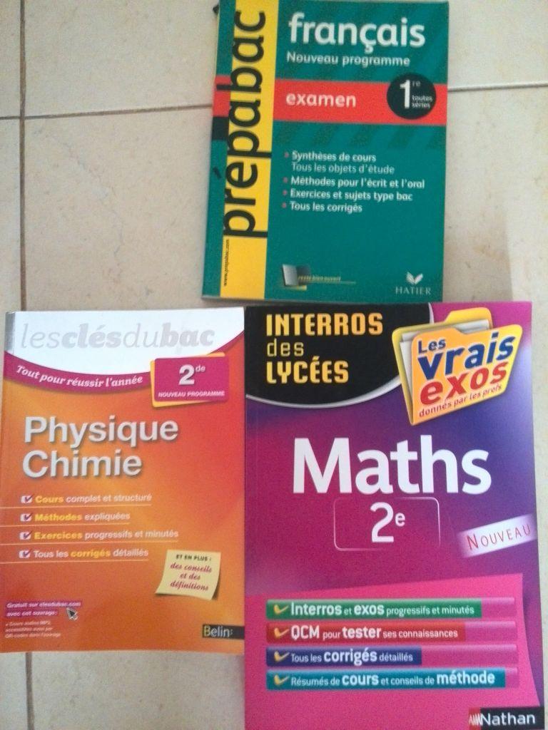 livres scolaires de révisions classes de seconde et première