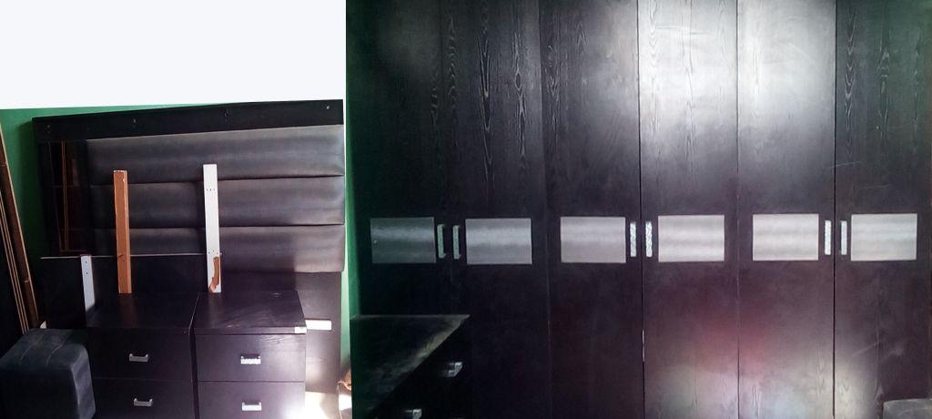 Armoire et lit double