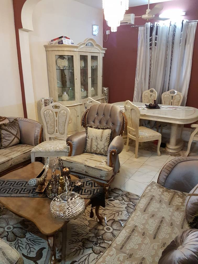 Turkish Sofa and dining table + cabinet