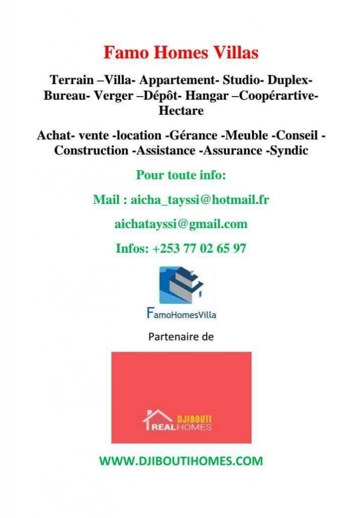 Agence immobilier a Djibouti