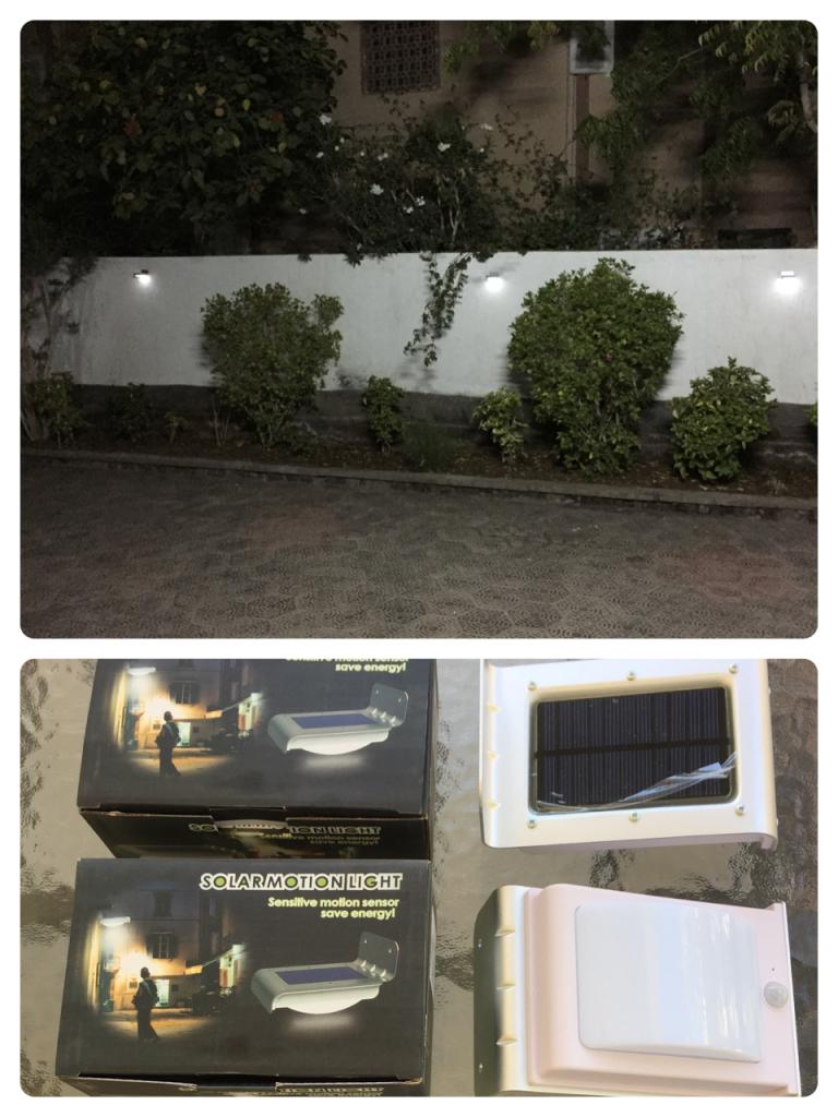 Lampes solaires LED à détecteur de mouvement !