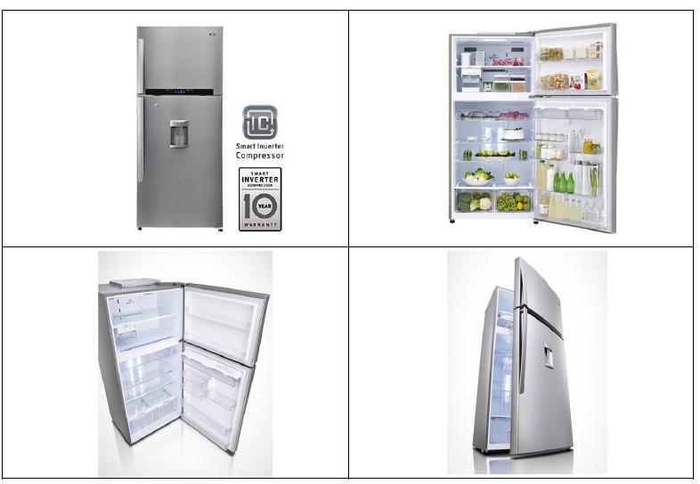 LG 650 Litres Refrigerator, Shiny Steel