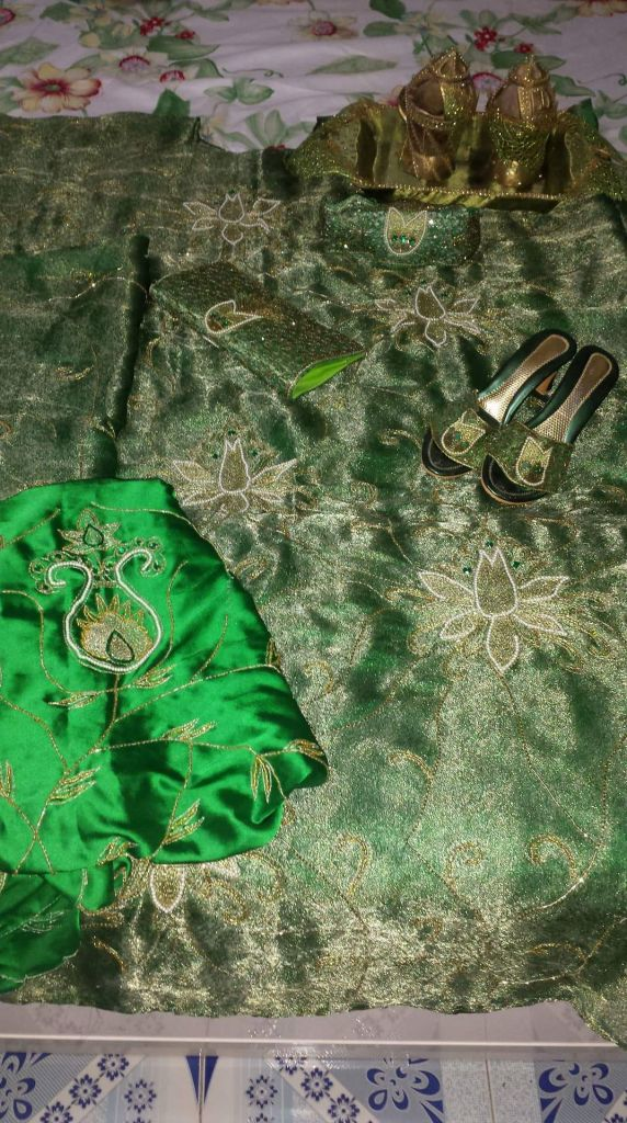 boubou vert pour mariée