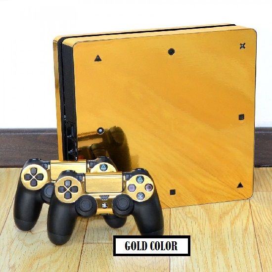 gold decal autocollant skin ps4 slim