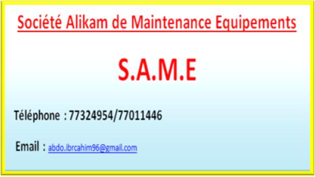 Societe Alikam de Maintenance des Equipements (S.A.M.E)