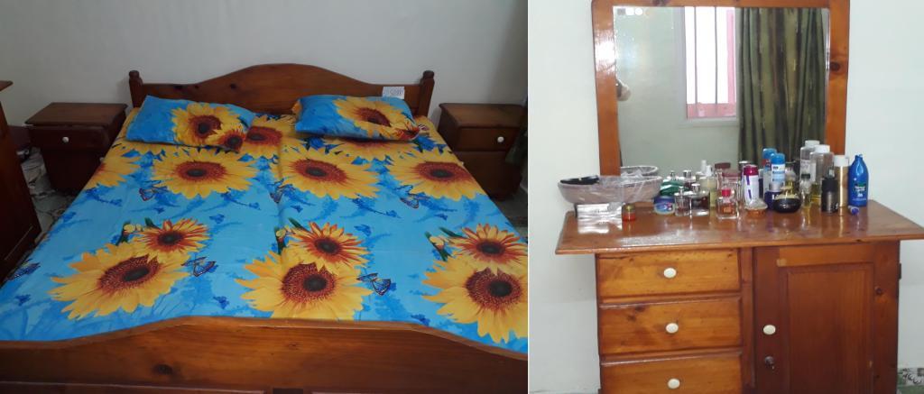Vente d'un lit, coiffeuse, et 2 tables de chevet