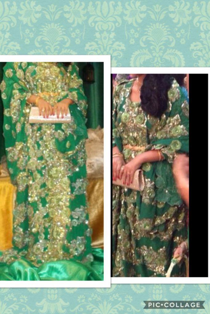 Boubou vert pour mariage