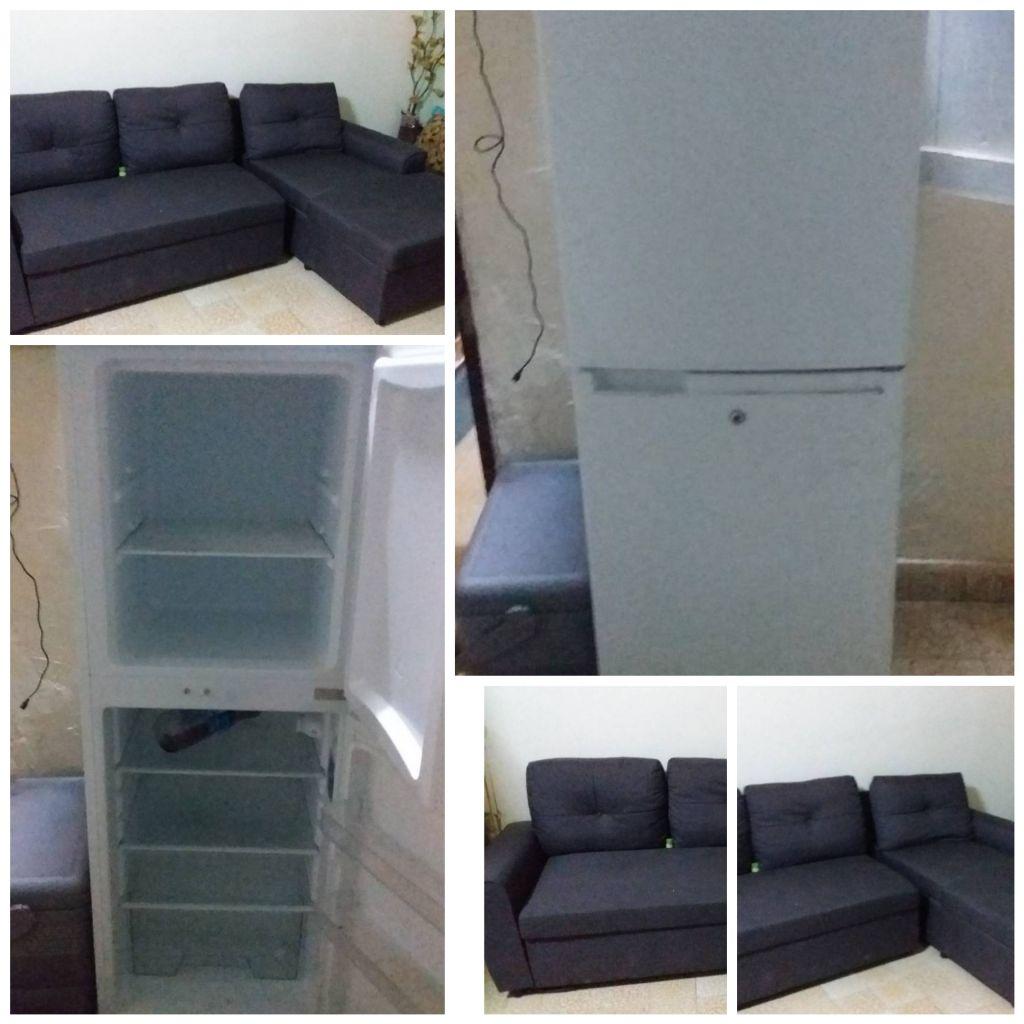 Meuble de salon et frigo peu utilisé
