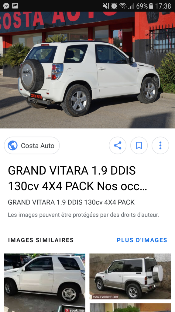 A la recherche d'un voiture