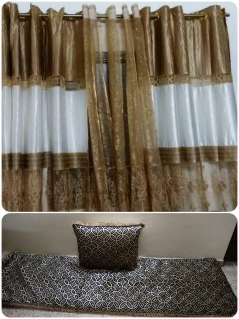 Tissus pour qaci avec rideau