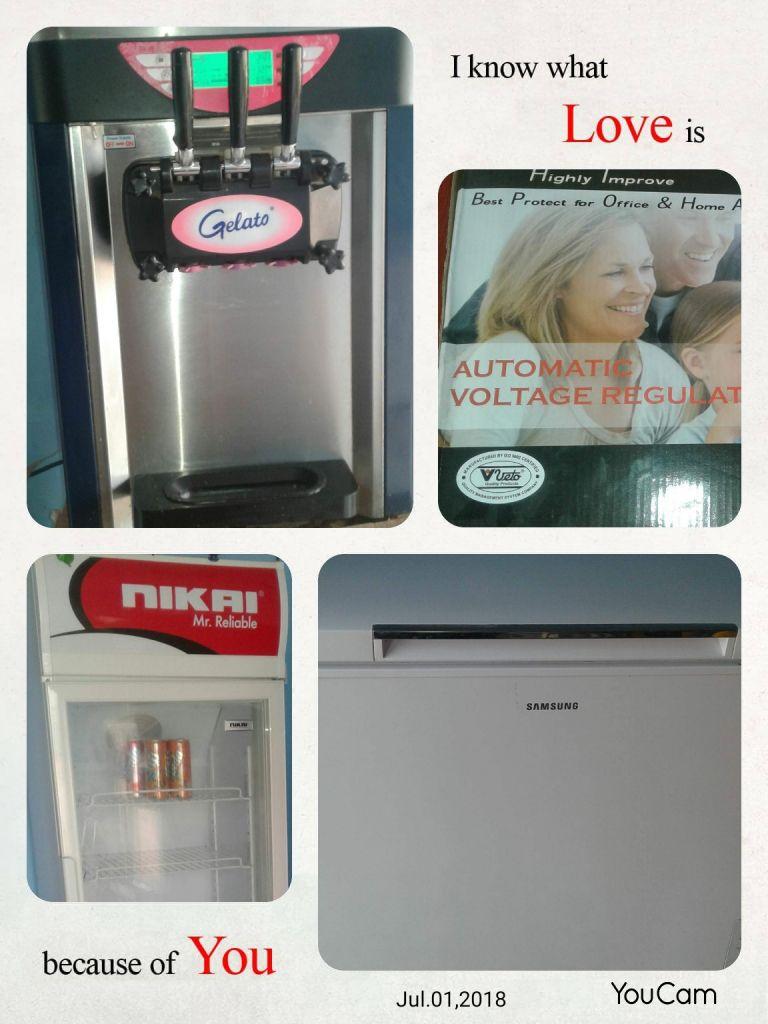 2 refrigerateur pour boutique et une machine a miko