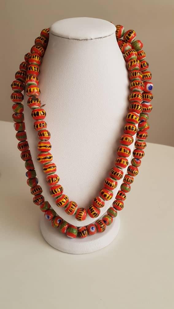 Authentique collier de perles de Kiffa (Mauritanie)