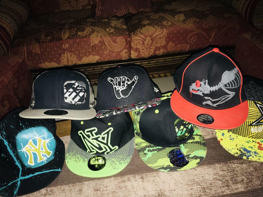 Collection de casquettes