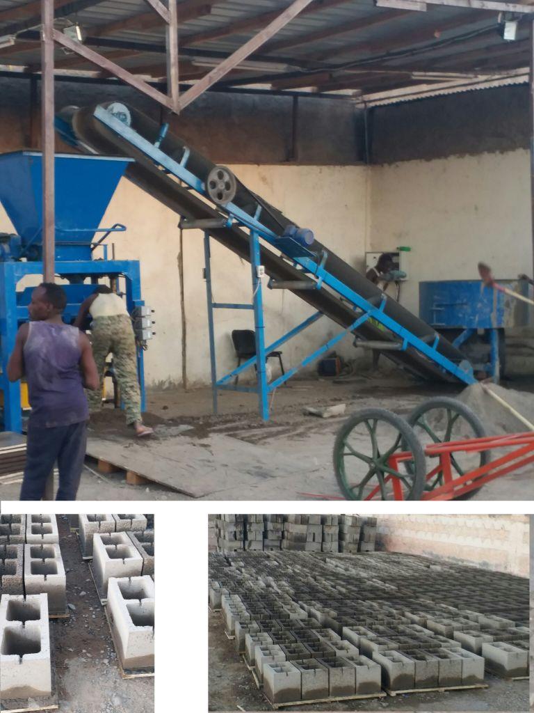 Machine à fabriquer des parpaings/briques/pavés