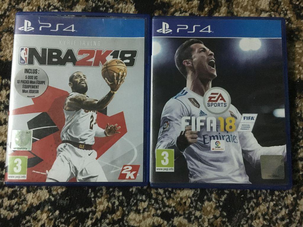 CD FIFA 18 + CD NBA 2k18 pour PS4