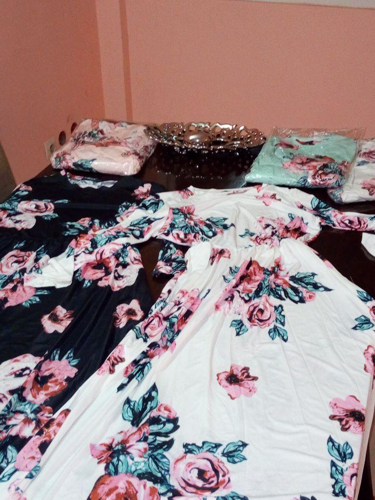 Robe longue imprime floral 2018