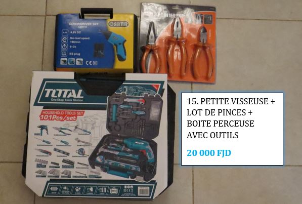 Outils perceuse