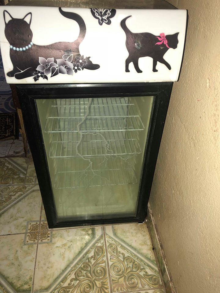 Petit frigo vitré avec lumière