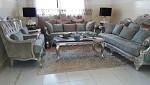 Salon complet avec tapis neuf
