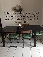 Table à manger Ikéa noire