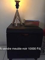 Table de chevet noire Ikéa