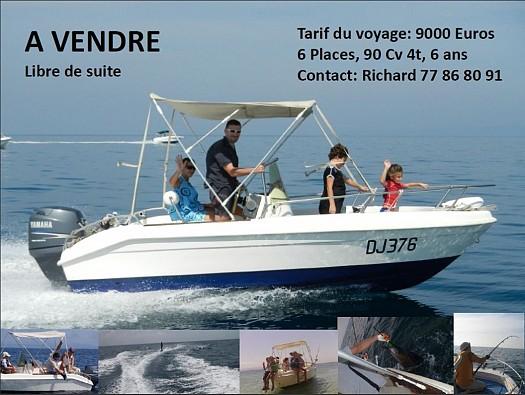 bateau occasion open 500  moteur yam 90cv 4t  u00e0 djibouti