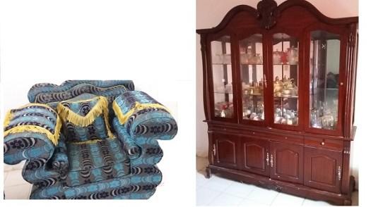 living salon et ses accessoires rideaux moquette etc djibouti. Black Bedroom Furniture Sets. Home Design Ideas