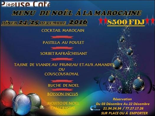 Menu De Noel A Emporter.Pause Cafe Menu De Noel A Djibouti