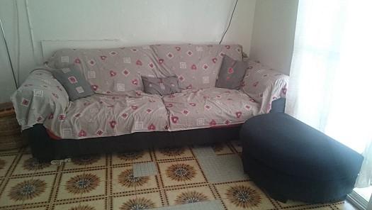 canap convertible avec son repose pieds gris djibouti. Black Bedroom Furniture Sets. Home Design Ideas