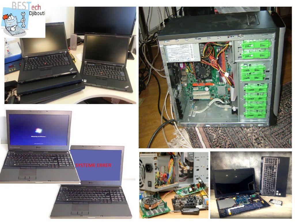 Reparation des pc portable/bureau+maintenance