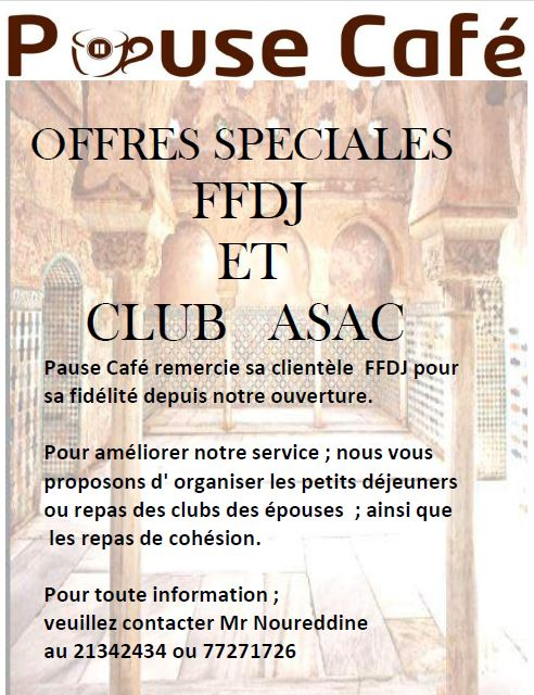 Offres speciales FFDJ et club ASAC