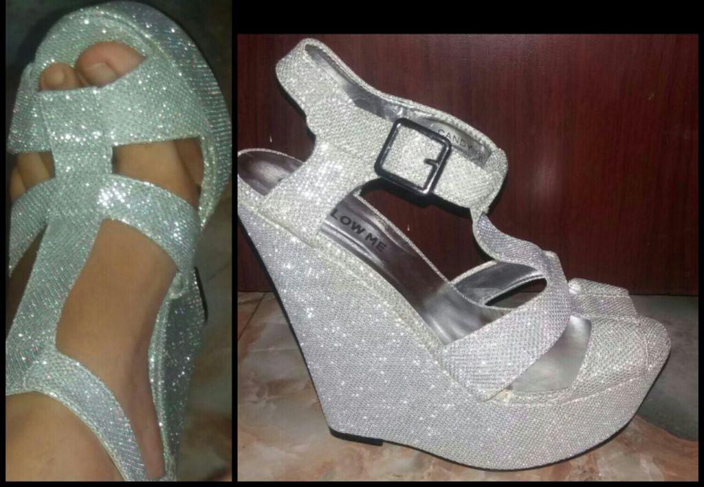 Chaussures argenté crystal