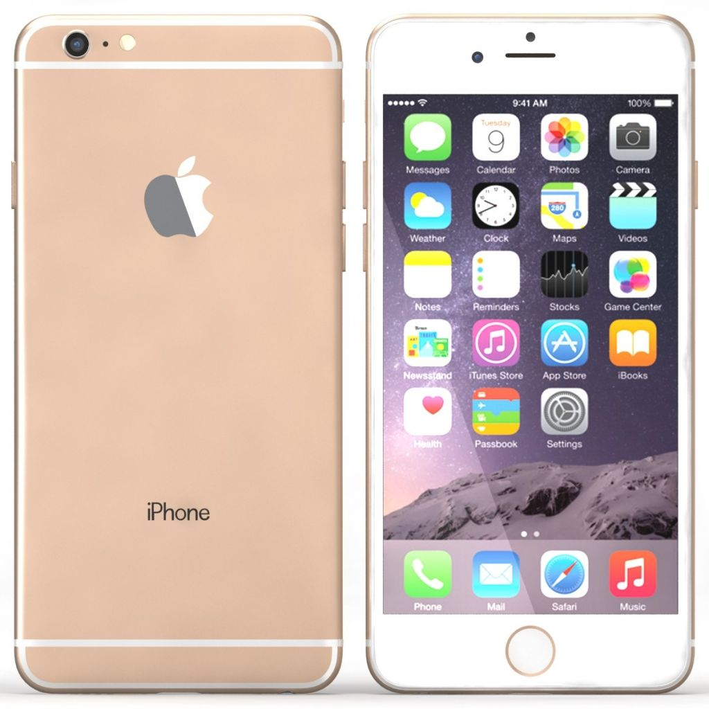 iphone 6 plus gold (16GB) + verre de protection et 3 coque de protection