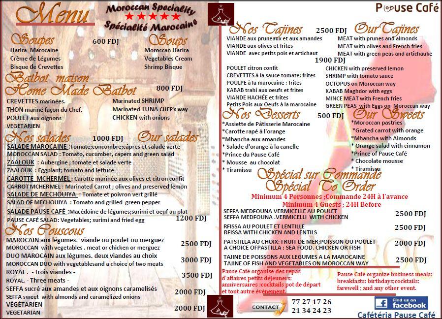 Pause café Restaurant Marocain