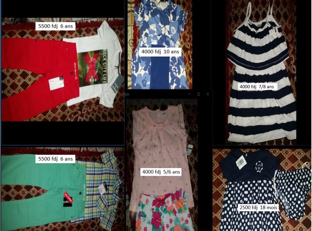 Vêtements enfants venu du France