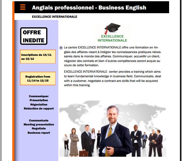 Anglais des affaires - Business English : Nouvelle offre de formation inédite