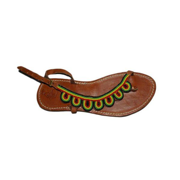 Sandales en cuir design africain