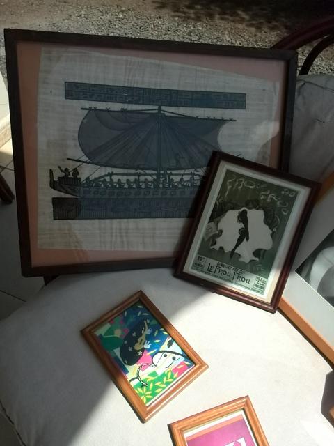 Tableaux-cadres sous verre décoratifs