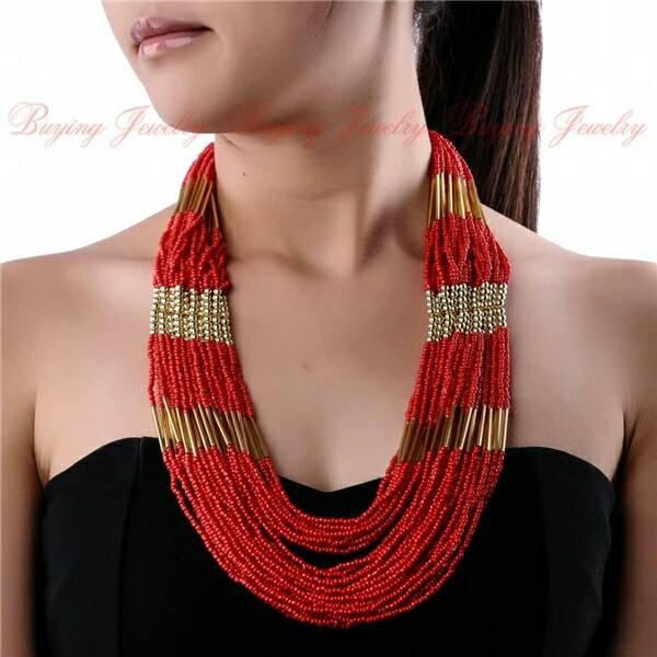 long collier en perles sans boucles d 39 oreilles djibouti. Black Bedroom Furniture Sets. Home Design Ideas
