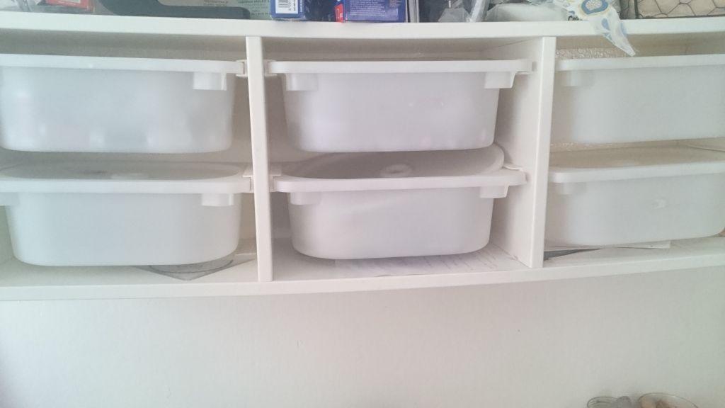 Tag re ik a blanche avec 6 bacs et couvercles djibouti - Ikea etagere blanche ...