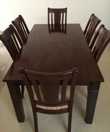 table avec 6 chaises djibouti. Black Bedroom Furniture Sets. Home Design Ideas