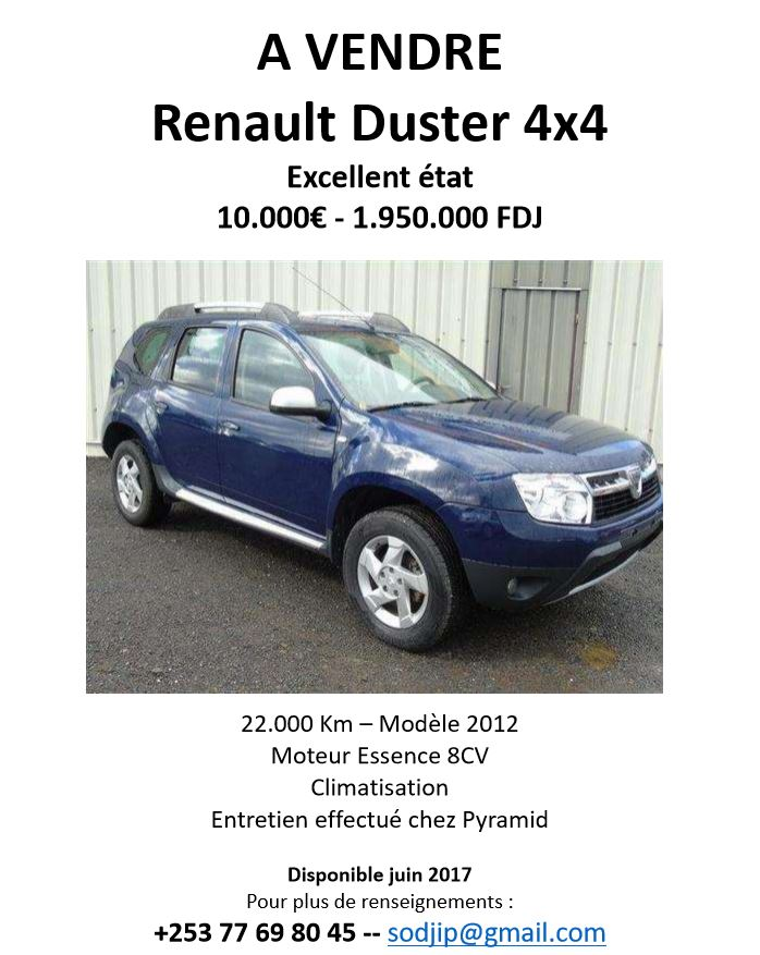 renault duster 4x4 excellent etat djibouti. Black Bedroom Furniture Sets. Home Design Ideas