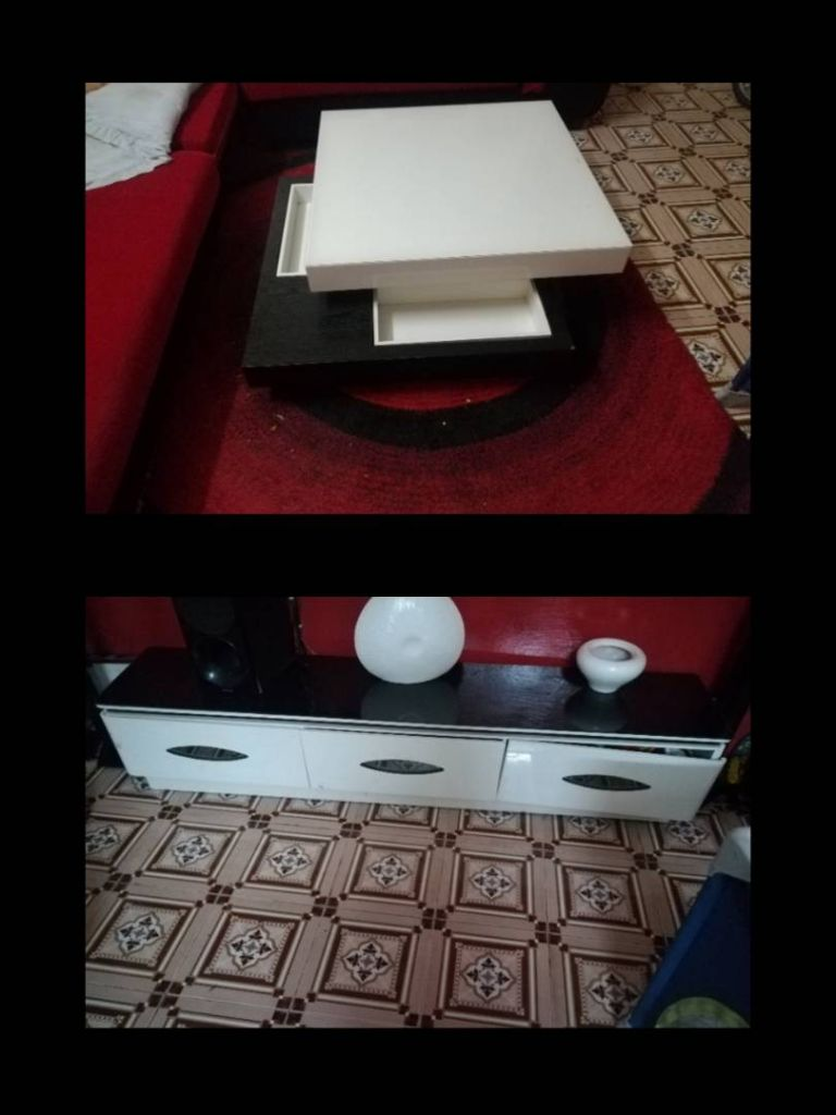 Vente table basse + table télé à Djibouti -> Table À Télé