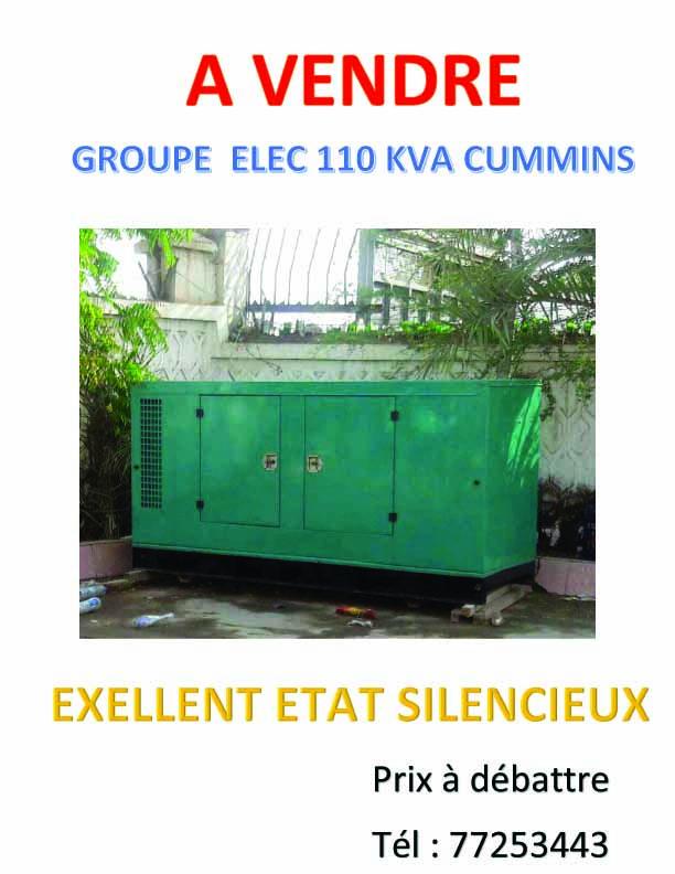 Groupe ELEC 110 KVA CUMMINS